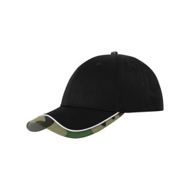 Contrast Tipped Cap - black / camo